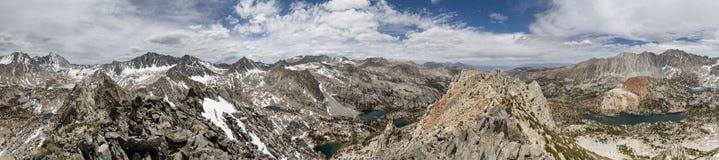 360度山全景 库存照片