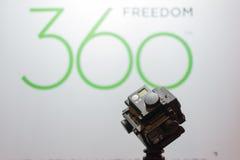 360度虚拟现实照相机系统 免版税库存照片