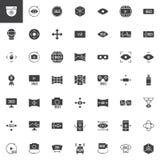 360度视图被设置的传染媒介象 免版税库存照片