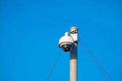 360度fisheye安装圆顶CCTV 库存照片