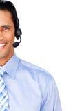 座席接近的客户服务部 库存照片