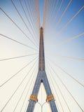 8座桥梁兆rama吊索 库存照片