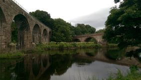 2座桥梁 免版税库存照片