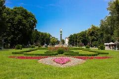 1座荣耀纪念碑波尔塔瓦乌克兰 免版税库存图片