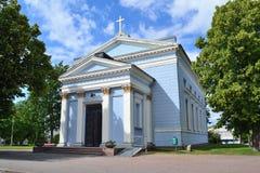 19座钟楼c教会芬兰hamina保罗・彼得st 教会路德教会 免版税库存图片