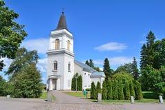 19座钟楼c教会芬兰hamina保罗・彼得st 教会lappeenranta玛丽st 免版税库存照片