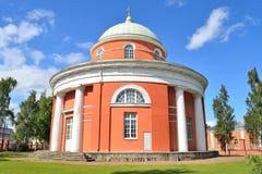 19座钟楼c教会芬兰hamina保罗・彼得st ST 教会保罗・彼得sts 免版税图库摄影