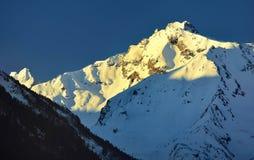 1257座高米山山波兰skrzyczne日出视图 库存图片