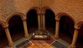 庭院一个地区看法在班格洛宫殿  免版税库存照片