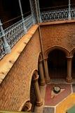 庭院一个地区看法在班格洛宫殿  库存图片
