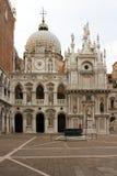 庭院共和国总督宫殿威尼斯 图库摄影