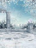 庭院冬天 皇族释放例证