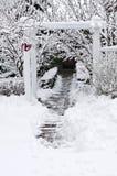 庭院冬天 免版税图库摄影