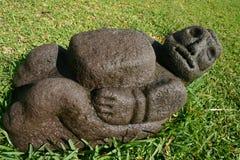 庭院刻在岩石上的文字 免版税库存照片