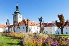 庭院加斯克,阴险的人学院,中波希米亚州, Kutna Hora,捷克共和国,欧洲 免版税库存图片