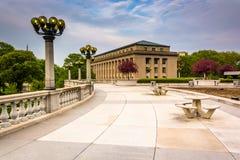 庭院和大厦在国会大厦复合体,哈里斯堡 库存图片