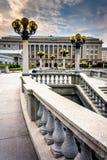 庭院和大厦在国会大厦复合体,哈里斯堡 免版税库存照片