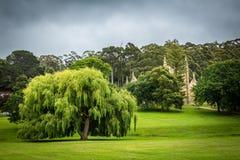 庭院和大厦在阿瑟港刑事殖民地世界遗产 免版税库存照片