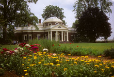 庭院回家杰斐逊monticello s 免版税库存照片