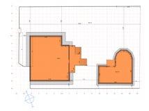 庭院土地计划  免版税库存图片