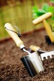 庭院土壤修平刀 免版税库存照片