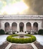 庭院在冬天 免版税图库摄影