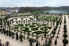 庭院在凡尔赛,巴黎,法国 免版税库存图片