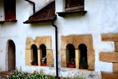 庭院在哈曼,特兰西瓦尼亚,罗马尼亚 库存图片