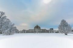 庭院在哥特人在冬天 免版税库存图片