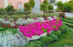 庭院在城市 免版税图库摄影