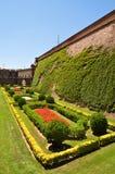 庭院在巴塞罗那 库存图片
