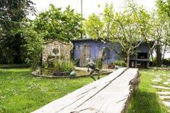 庭院在意大利 免版税库存照片