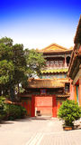 庭院在故宫,北京,中国 库存照片