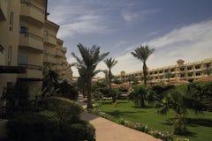 庭院在旅馆里 免版税图库摄影