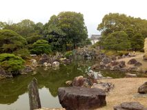 庭院在日本宫殿 免版税库存图片