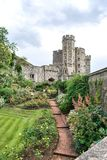 庭院在温莎城堡-伦敦 免版税库存照片