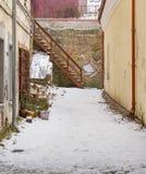 庭院在老镇 库存照片