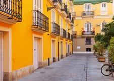 庭院在西班牙城市。巴伦西亚 库存图片