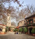 庭院在Sedona艺术区 免版税图库摄影