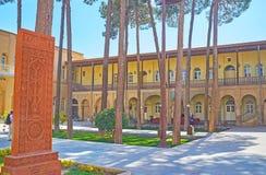庭院在Vank修道院,伊斯法罕,伊朗里 免版税库存图片