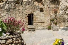 庭院坟茔在耶路撒冷,以色列 库存图片