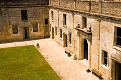 庭院堡垒内在老 免版税库存照片