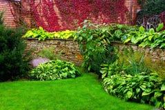 庭院墙壁 免版税库存照片