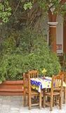 庭院墨西哥餐馆 免版税库存照片