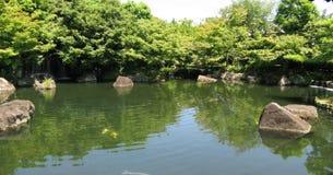 庭院姬路池塘 库存照片