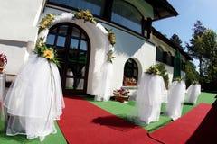 庭院婚礼 免版税库存照片