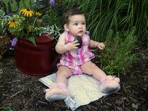 庭院婴孩 免版税库存照片