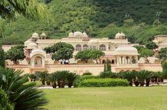 庭院宫殿在斋浦尔。 免版税库存图片