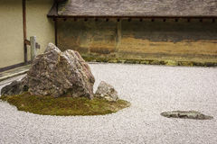 庭院岩石ryoanji寺庙 库存图片