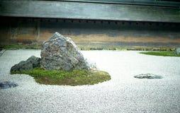 庭院岩石ryoanji禅宗 免版税库存照片